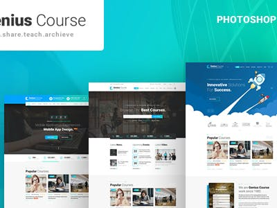 Genius Course – Learning & Course HTML Template