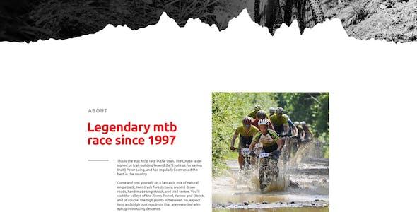 MTB Race - Mountain Bike Racing / Marathon / Cycling Event Website Muse Template