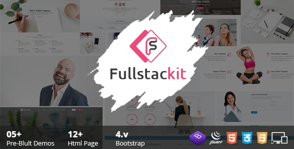 Fullstackit - Bootstrap 4 Multipurpose HTML Templates - Business Corporate