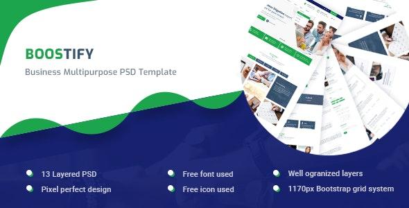 Boostify - Business Multipurpose PSD template - Business Corporate