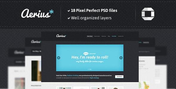 aerius PSD Template - Creative Photoshop