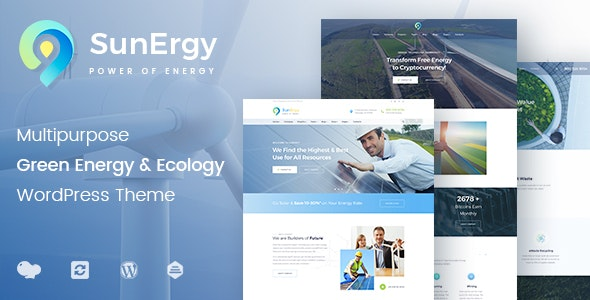 Sunergy - Green and Ecology Solar Energy - Technology WordPress