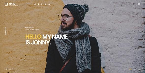 Jonny - One Page Joomla! Theme - Creative Joomla