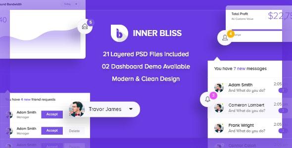 Inner Bliss - Creative Admin PSD Template - Technology Photoshop