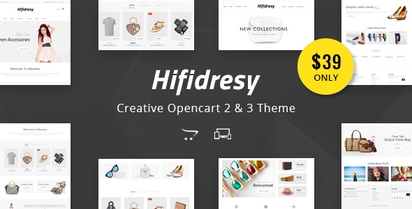 Hifidresy - Multipurpose OpenCart 2 & 3 Theme - Fashion OpenCart