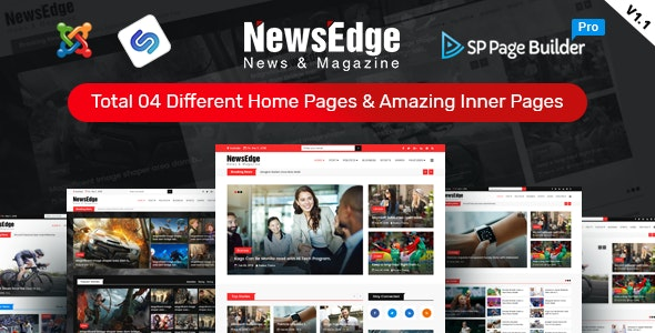 NwsEdge – News & Magazine Joomla Template - Blog / Magazine Joomla