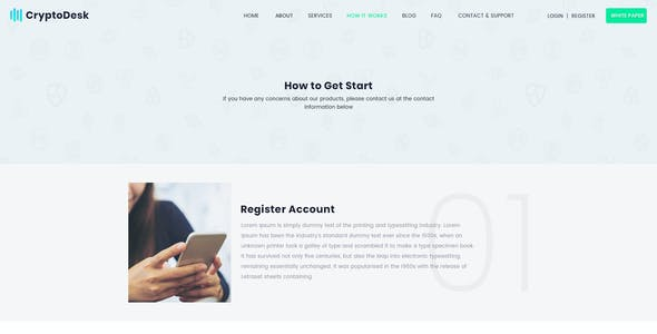 CryptoDesk - A Crypto Currency PSD Template