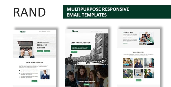 Rand - Multipurpose Responsive Email Template With Online StampReady Builder Access - Newsletters Email Templates
