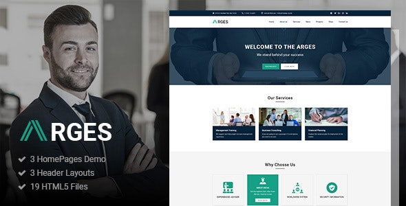 Arges | Corporate & Business HTML5 Template - Business Corporate