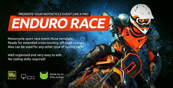 Download Enduro - Extreme Motorcycle Race Event Website Muse Template