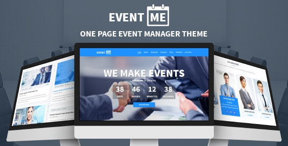 EventMe - One Page Conference & Meetup Drupal Theme - Events Entertainment
