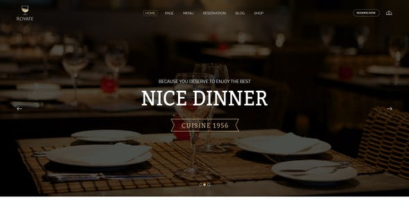 Royate   Restaurant PSD Template
