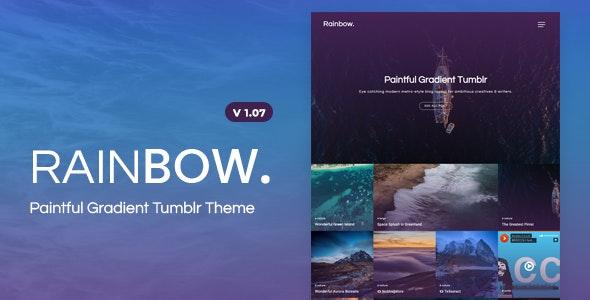 Rainbow   Gradient Grid Tumblr Theme - Blog Tumblr