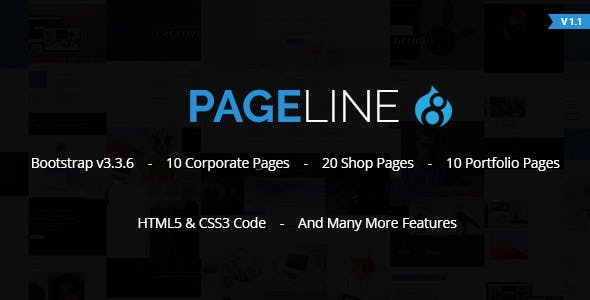 PageLine - Bootstrap Based Multi-Purpose HTML5 Drupal 8.9 Theme