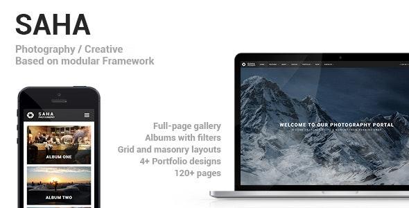 Saha - Photography / Creative Portfolio Drupal 8.8 Theme - Photography Creative