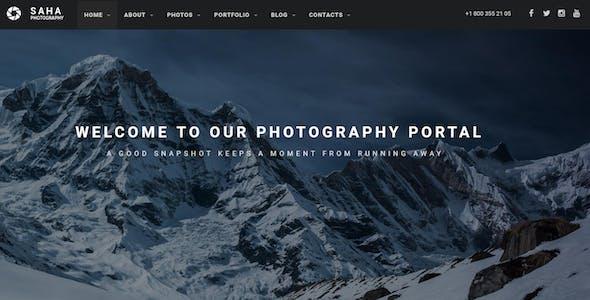 Saha - Photography / Creative Portfolio Drupal 8.9 Theme