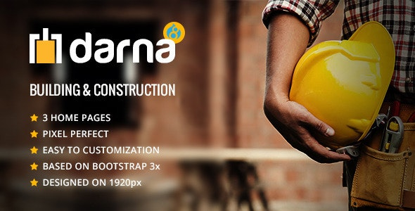 Darna – Building and Construction Drupal 8.9 Theme - Business Corporate