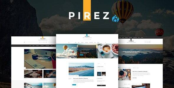 PIREZ - Blogging Drupal 8.9 Theme - Personal Blog / Magazine