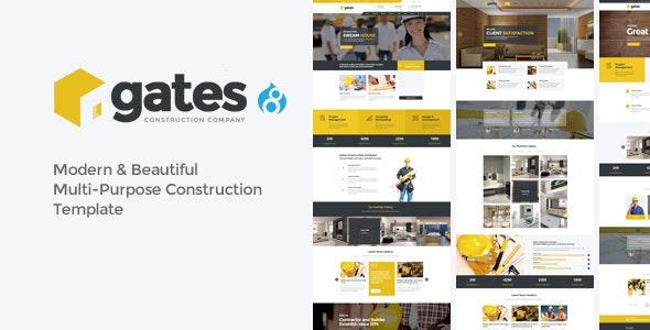 Gates - Multi-Purpose Construction Drupal 8.9 Theme - Creative Drupal