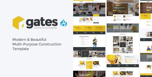 Gates - Multi-Purpose Construction Drupal 8.9 Theme