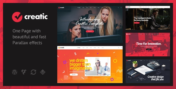 Creatic - One Page Parallax WordPress - Creative WordPress