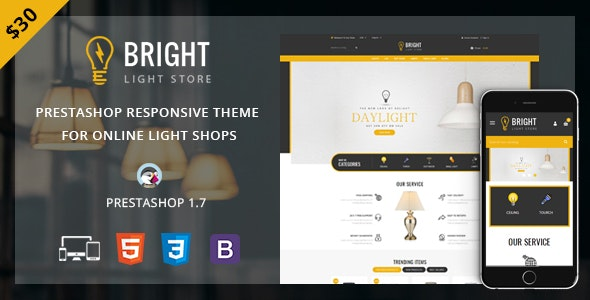 Bright - Responsive Prestashop 1.7 Theme - Technology PrestaShop