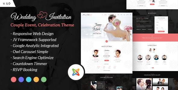 Wedding Invitation - Couple Event and Celebration Joomla Theme - Wedding Joomla