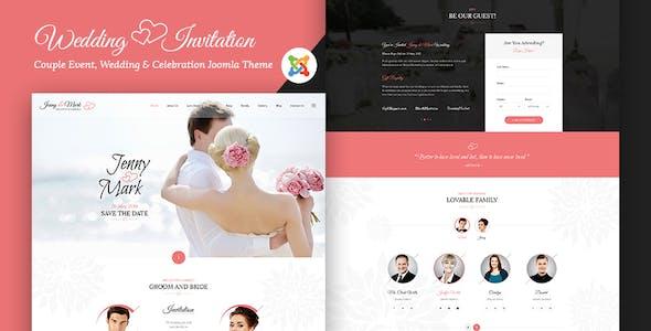 Wedding Invitation - Couple Event and Celebration Joomla Theme