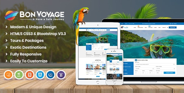 Bon Voyage HTML Template - Travel Retail