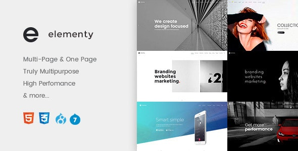 Elementy - Multipurpose One & Multi Page Drupal 7 - 8.8 Theme - Corporate Drupal