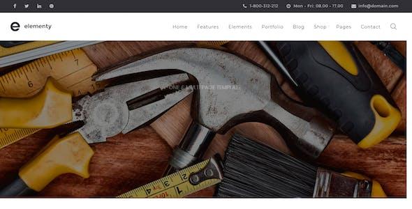 Elementy - Multipurpose One & Multi Page Drupal 7 - 8 Theme