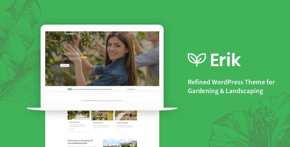 Erik - Refined WordPress Theme for Gardening & Landscaping - Business Corporate