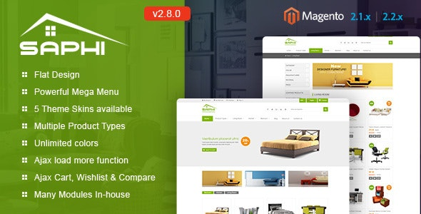 Saphi - Responsive Magento 2 and 1.9 Theme - Magento eCommerce