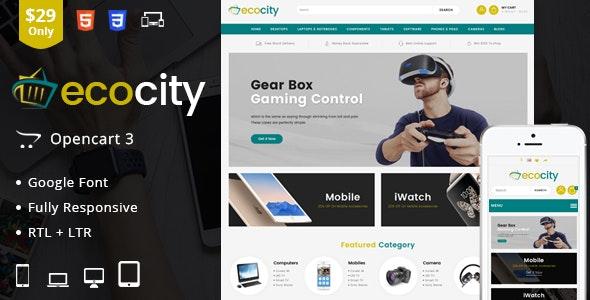 EcoCity - OpenCart Responsive Theme - Technology OpenCart