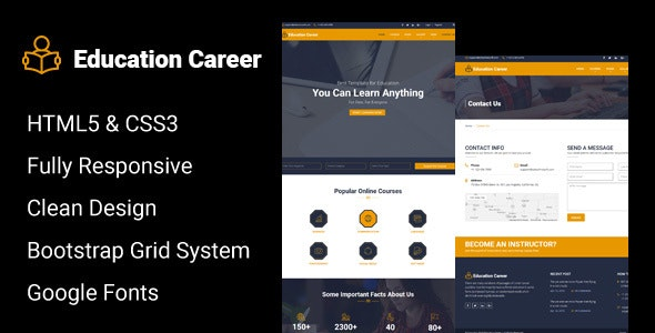 Education Career - Responsive HTML Template - Corporate Site Templates