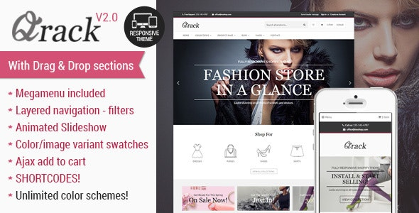 Qrack - Responsive Shopify Theme with sections - Fashion Shopify