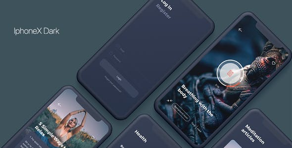 Namaste - Meditation Mobile App UI Kit