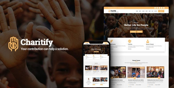 Charitify - NGO/Charity/Fundraising HTML Template - Charity Nonprofit