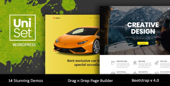 UniSet - Landing Page WordPress Theme - Marketing Corporate