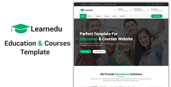 Learnedu - Education & Courses HTML5 Template - Business Corporate