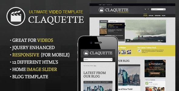 Doctype Claquette - Responsive Video HTML Template - Creative Site Templates