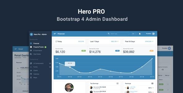 Hero PRO - Bootstrap 4 Admin Dashboard Theme - Admin Templates Site Templates