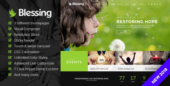 Blessing | Responsive WordPress Theme for Church Websites by OceanThemes