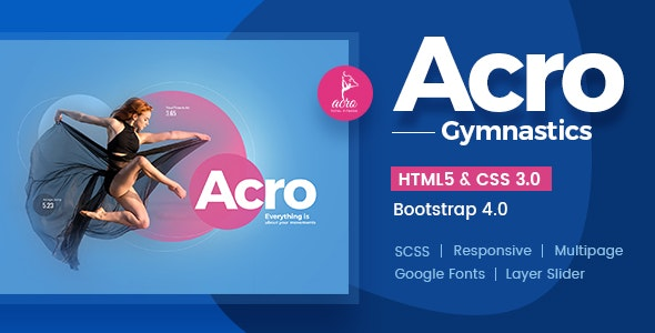 Acro | Gym And Fitness Academy HTML Template - Business Corporate