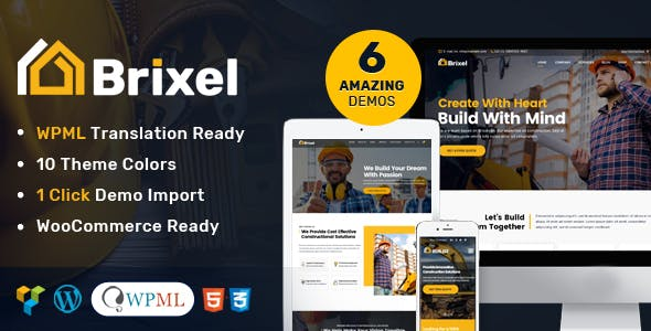 Brixel Building Construction WordPress Theme