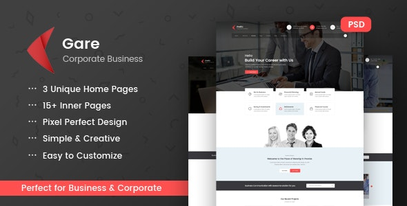 Gare PSD Template - Business Corporate