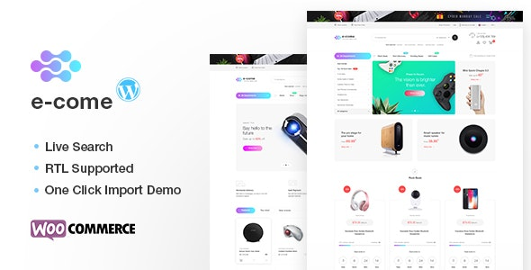 Ecome -  Electronics Store WooCommerce Theme - RTL Supported - WooCommerce eCommerce