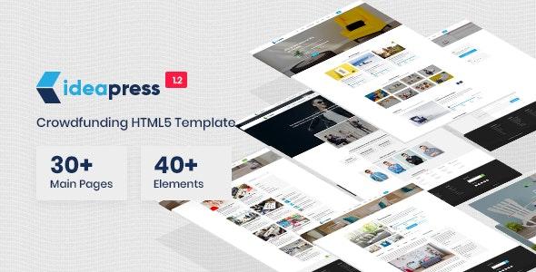 Ideapress - Crowdfunding & Fundraising HTML Template - Nonprofit Site Templates