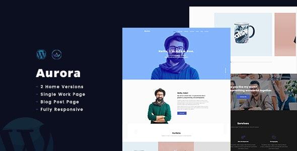 AuroraX - Portfolio WordPress Theme - Portfolio Creative