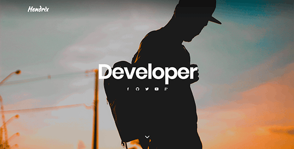 Hendrix - One Page Personal Portfolio Template - Personal Site Templates